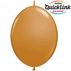 "Globos de 6"" Quick Link Fashion Mocha Brown"