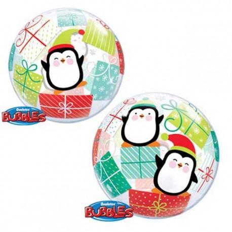 """Globos de foil de 22"""" Bubbles Pinguinos Y Regalos"""