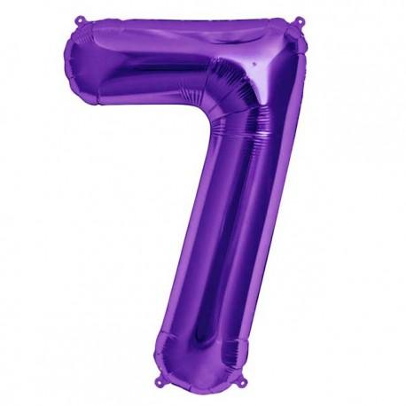 """Globos de Foil de 34"""" (86cm) número 7 Purpura"""