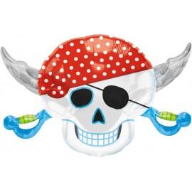 """Globos de foil supershape de 28"""" X 18"""" Fiesta Pirata"""