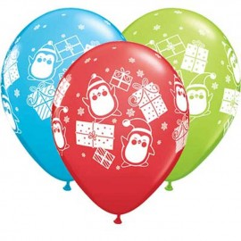 "Globos de 11"" Regalos Y Pinguinos Qualatex"
