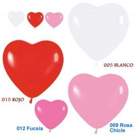 """Globos latex de 6"""" colores surtidos corazones 2"""