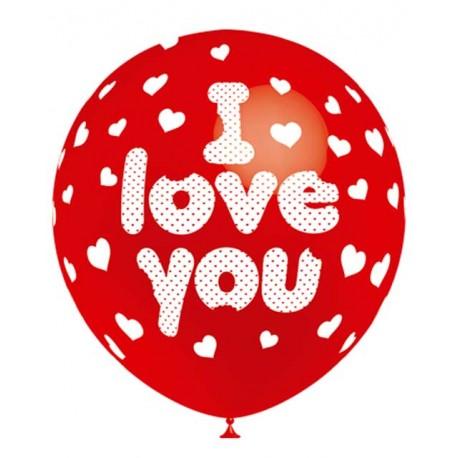 """Globos de 12"""" I Love You Balloonia"""