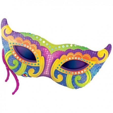"""Globos de foil 38"""" (97Cm) Mascara Carnaval"""