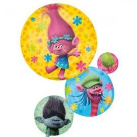 "Globos de foil supershape de 28"" X 22"" Trolls"