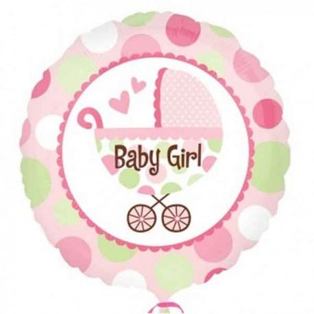 """Globos de foil de 18"""" Baby Girl cochecito"""