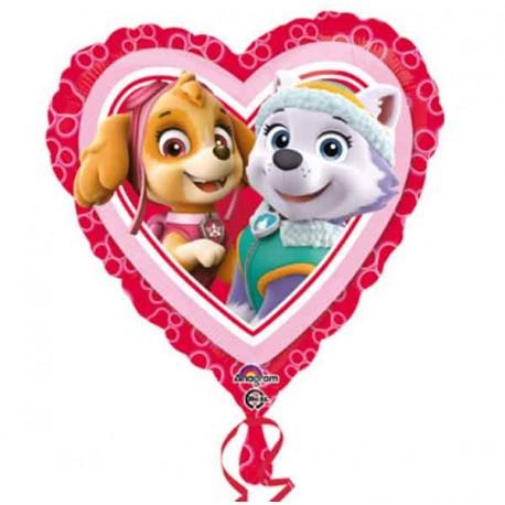 """Globos de foil 18"""" (45Cm) Patrulla Canina Corazon"""