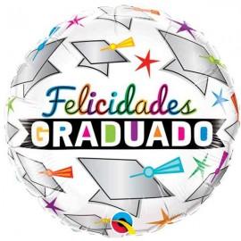 "Globos foil de 18"" (46Cm) Felicidades Graduado"