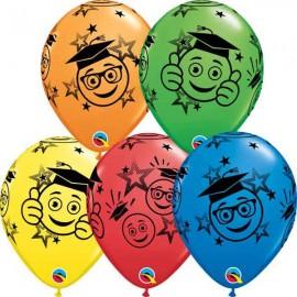 """Globos de 11"""" Graduados Sonrientes Qualatex"""