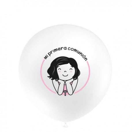 """Globos de 12"""" Comunion Rosa Balloonia"""