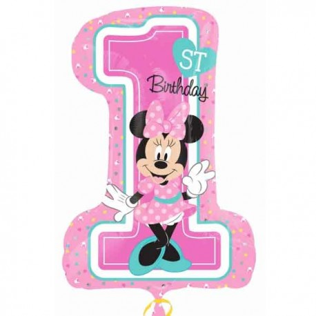 "Globos Foil supershape de 19"" X 28"" Minnie 1st Cumple"