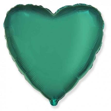 "Globos de foil corazones 18"" Turquesa"