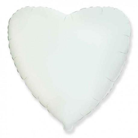 """Globos de foil corazones 18"""" Blanco"""