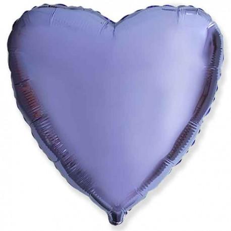"""Globos de foil corazones 18"""" Lila"""