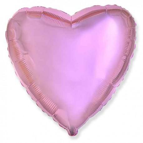 """Globos de foil corazones 18"""" Rosa Claro"""