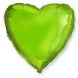 """Globos de foil corazones 18"""" Verde Lima"""