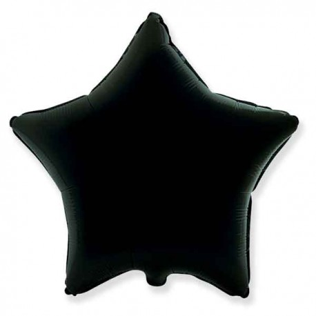 "Globos de foil Estrellas 18"" Negro"