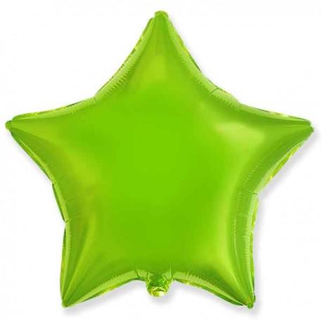 "Globos de foil Estrellas 18"" Verde Lima"
