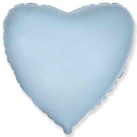 """Globos de foil corazones 18"""" Baby Azul Pastel"""