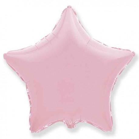 """Globos de foil Estrellas 18"""" Baby Rosa Pastel"""