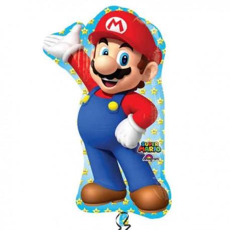 "Globos de foil supershape de 22"" X 33"" Super Mario"