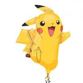 "Globos de foil supershape de 31"" x 25"" Pikachu"