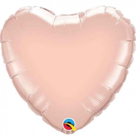 """Globos de foil corazones 9"""" Oro Dorado"""