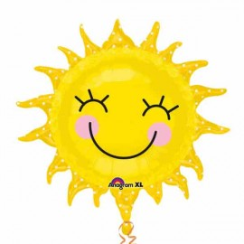 """Globos de foil supershape 29"""" x 28"""" Sol Feliz"""