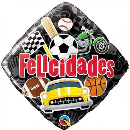 """Globos de foil 18"""" (46Cm) Felicidades Deportes"""