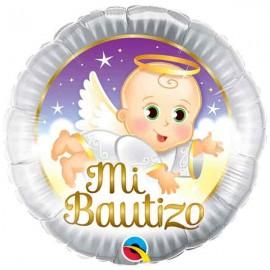 "Globos de foil de 18"" (45Cm) Mi Bautizo Qualatex"