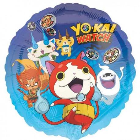"""Globos de foil 17"""" (45Cm) Yo Kai Watch Redondo"""