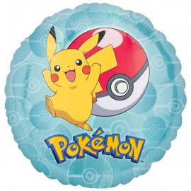 "Globos de foil 17"" (45Cm) Pokemon Go Redondo"