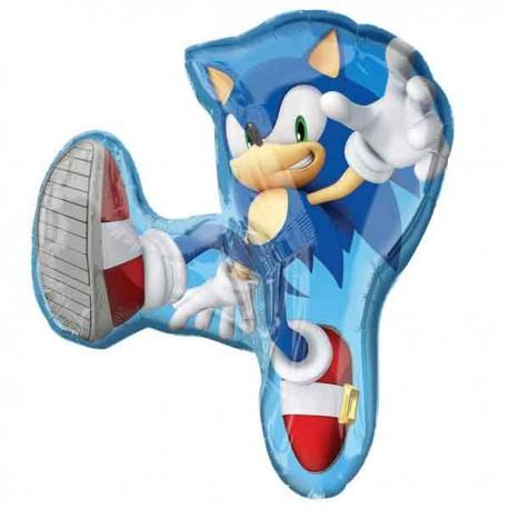 """Globos Foil Supershape de 33"""" x 28"""" Sonic"""