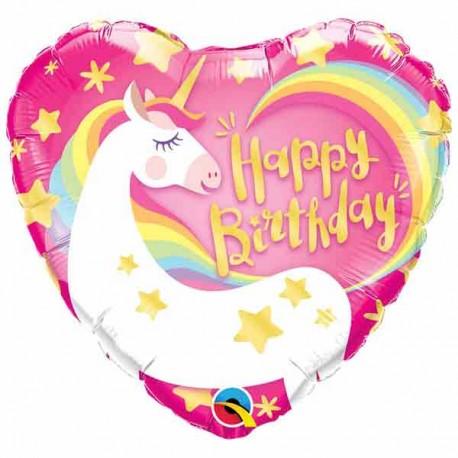 "Globos foil 18"" (46Cm) Birthday Unicornio"