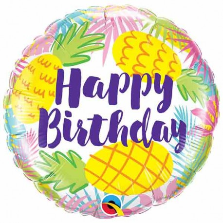 "Globos de foil 18"" (46Cm) Birthday Piña"