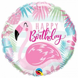"Globos foil 18"" (46Cm) Birthday Pink Flamingo"