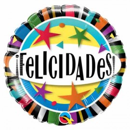 """Globos foil 18"""" (46Cm) Felicidades Estrellas"""