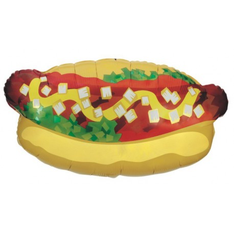 "GLOBOS DE FOIL DE 32"" HOT DOG"