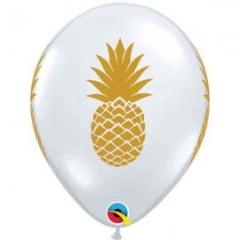"Globos de 11"" Piña Transparente Qualatex"