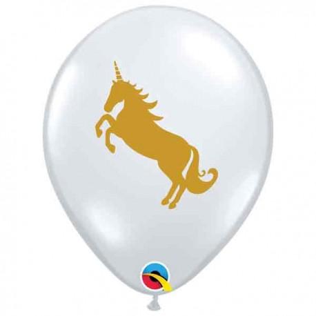 """Globos de 11"""" Unicornio Transparente Qualatex"""