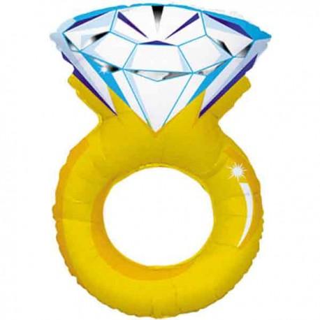 """Globos de foil de 37"""" (94Cm) Anillo Diamante ORO"""