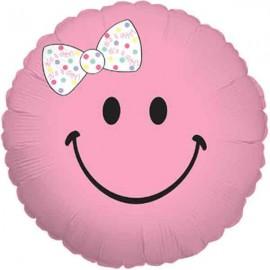 "Globos de foil de 18"" (45Cm) Bebe Sonrisa Rosa"