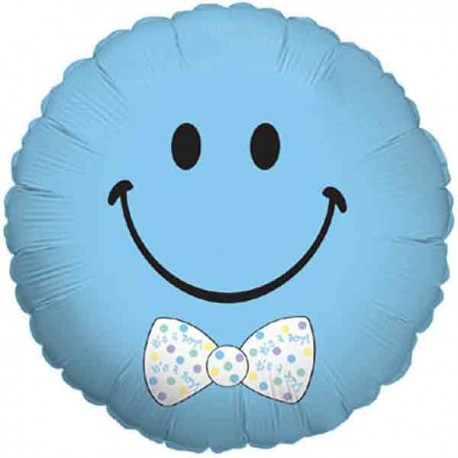 "Globos de foil de 18"" (45Cm) Bebe Sonrisa Azul"
