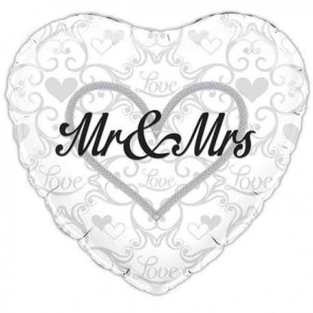 """Globos Foil de 18"""" (45Cm) Mr & Mrs"""