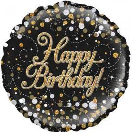 """Globos Foil de 18"""" happy birthday Espumoso"""