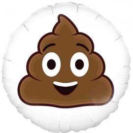 """Globos Foil de 18"""" (46Cm) Emoji Poop Sonriente"""