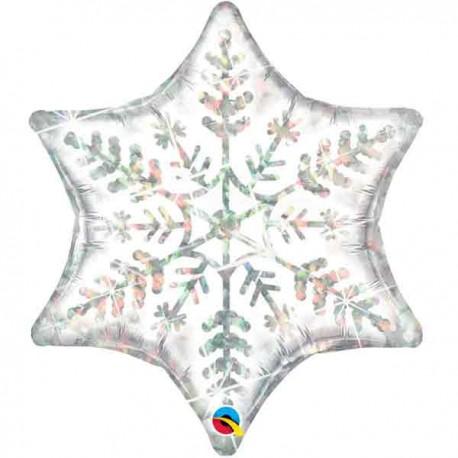 "Globos de foil Estrella de 36"" (91Cm) Copo de Nieve Grande"