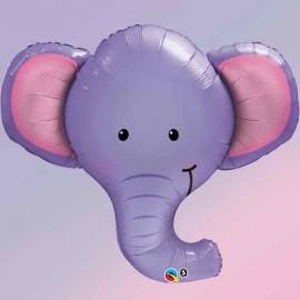 """Globos Foil de 39"""" (99Cm) Elefante Grande"""