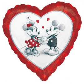 "Globos Foil Corazón 18"" Minnie & Mickey Amor"