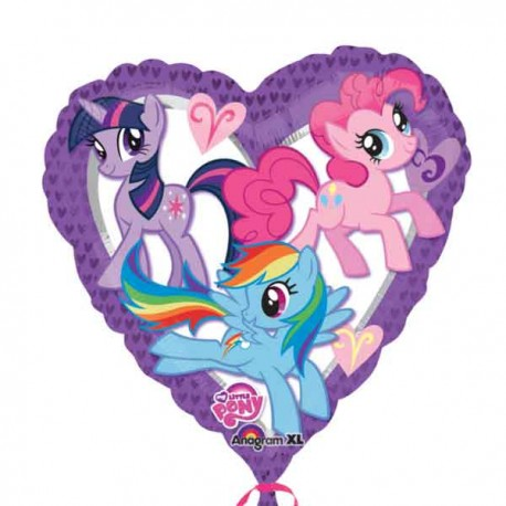 "Globos foil Forma Corazon 17"" My Little Pony"